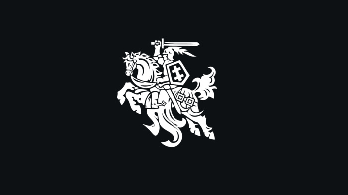 simple, Lithuania, coat of arms, black