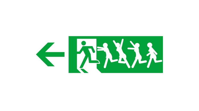 simple background, arrows, humor, minimalism, green, men, signs, running, girl, white background