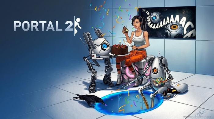 Chell, video games, Valve, Portal Gun, GLaDOS, Portal 2, Portal