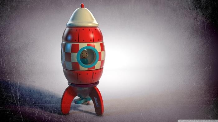 digital art, rockets