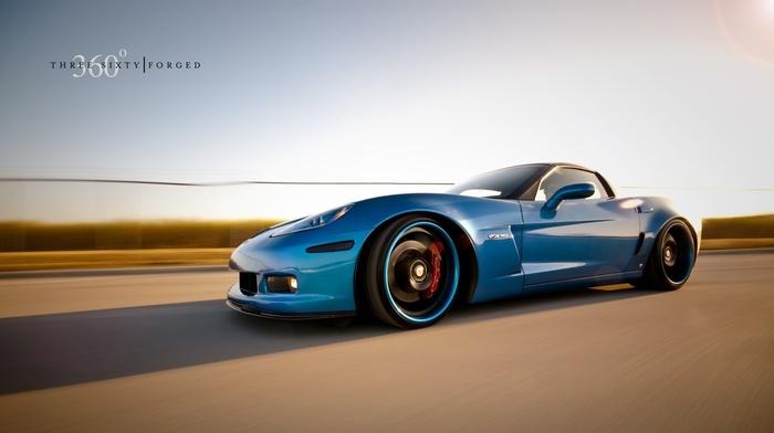 blue cars, car, Chevrolet Corvette