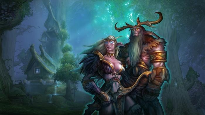 elves, World of Warcraft, Malfurion, Night Elves, fantasy art