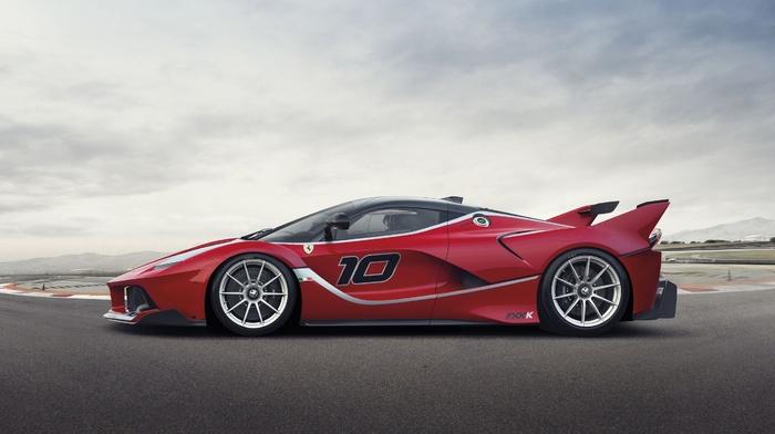 Ferrari FXXK, sports car, Ferrari, red cars