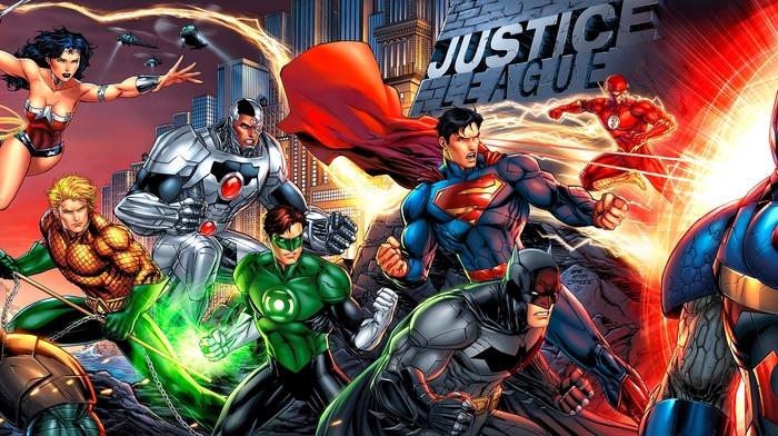 Composite Superman, Batman, Superman, Darkseid, Wonder Woman, DC Comics, Aquaman, Flash, cyborg, Justice League, Green Lantern