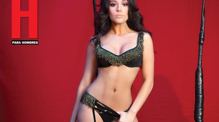 Revista H, lingerie, girl, stockings, Jass Reyes