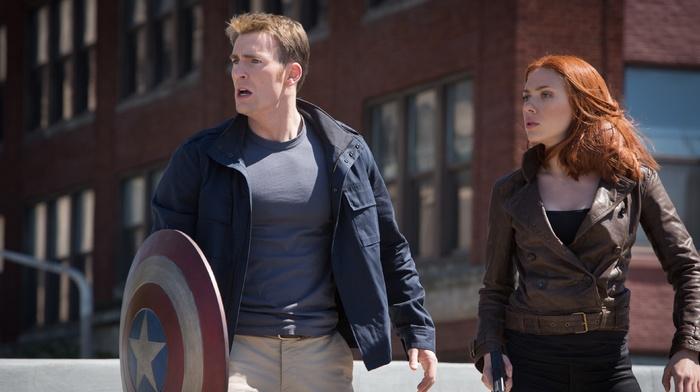 captain america the winter soldier, Scarlett Johansson, chris evans, Steve Rogers