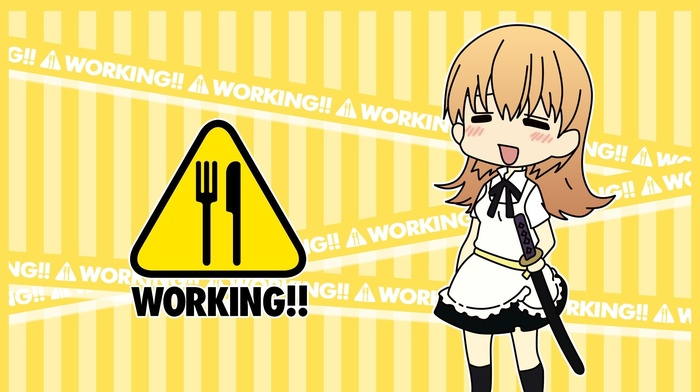 Working, anime girls