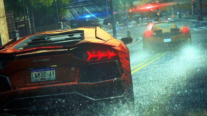 digital art, Lamborghini Huracan LP 610, 4, video games, Need for Speed, sports car