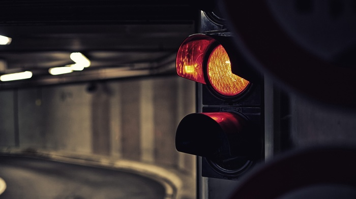 traffic lights, tunnel, street light, traffic