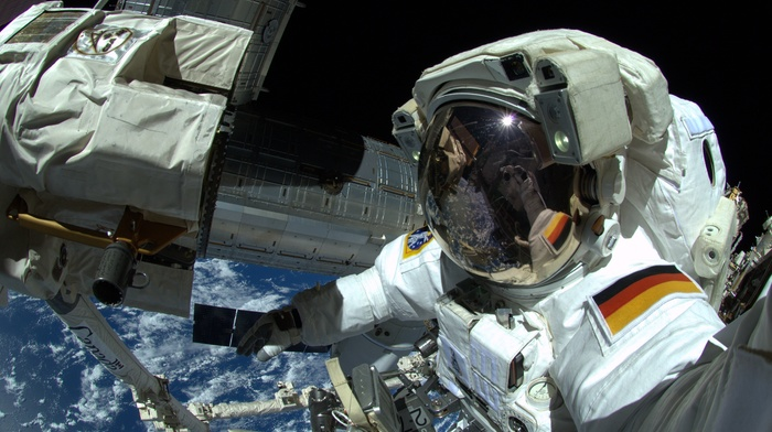 selfies, International Space Station, space, astronaut, Earth