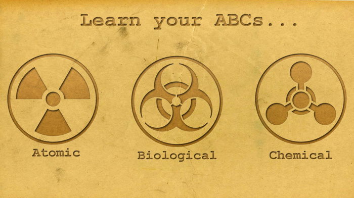 simple background, chemistry, knowledge, quote, circle, biohazard, minimalism, logo, radiation, warning signs