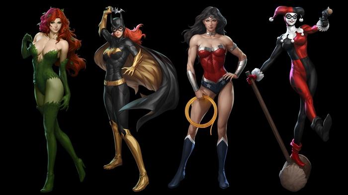 DC Comics, Wonder Woman, Poison Ivy, Batgirl, Harley Quinn