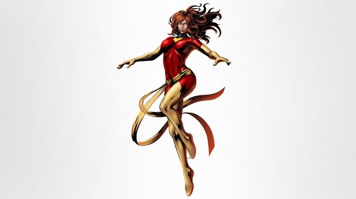 Jean Grey, Dark  Phoenix, Marvel Comics, illustration, simple background