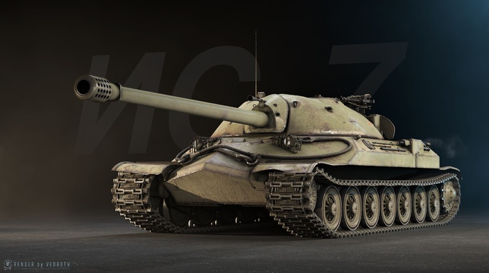 World of Tanks, digital art, tank, IS, 7