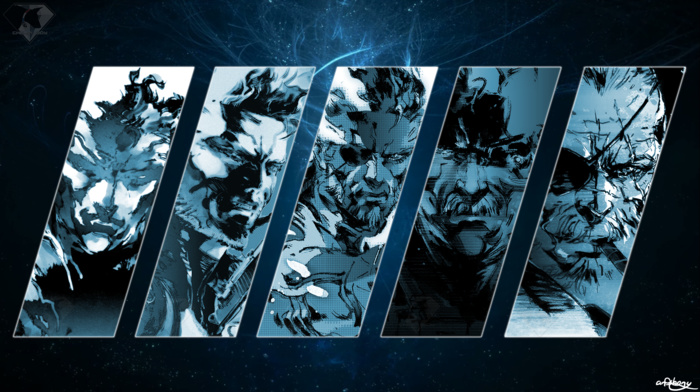 artwork, Big Boss, Chelpi Boy, Solidus Snake, Naked Snake, Metal Gear Solid, Liquid Snake, Solid Snake