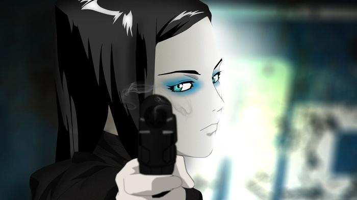 anime girls, Re, l Mayer, anime, Ergo Proxy, gun, machine gun