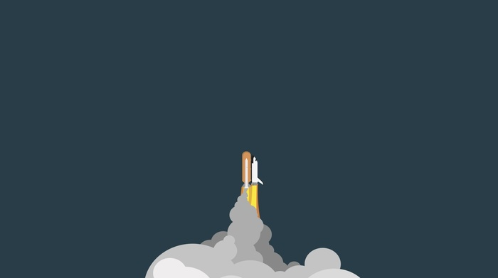 space, minimalism, rockets