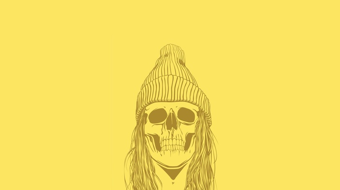 minimalism, skull