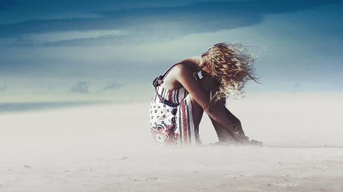 filter, girl, model, blonde, sandstorms