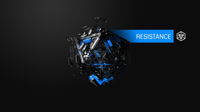 Resistance, blue, Justin Maller, hexagon, Ingress