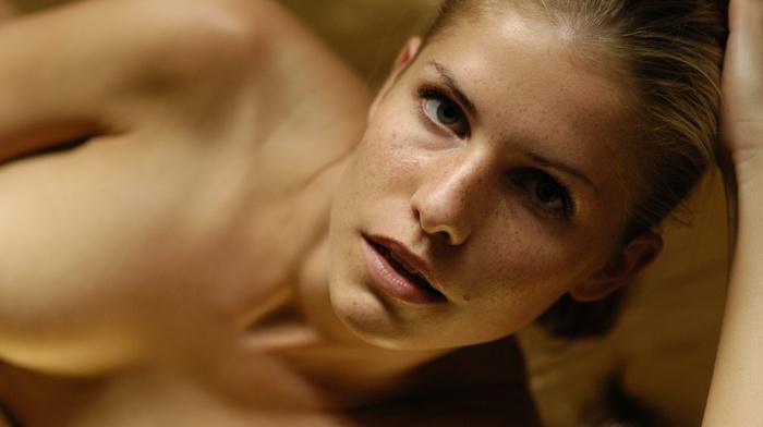 Iveta Vale, face, nude, blonde, girl, Met, art