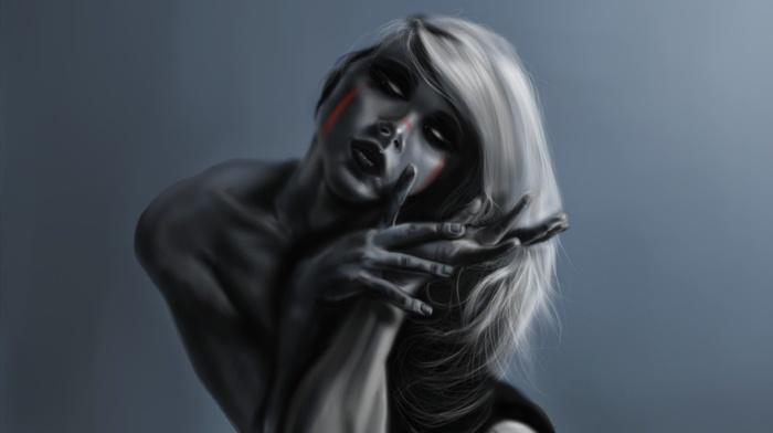 fantasy art, zombies, girl