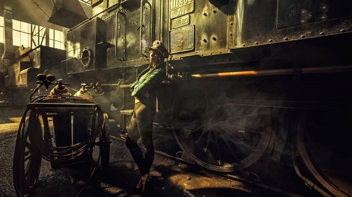 steampunk, girl, model