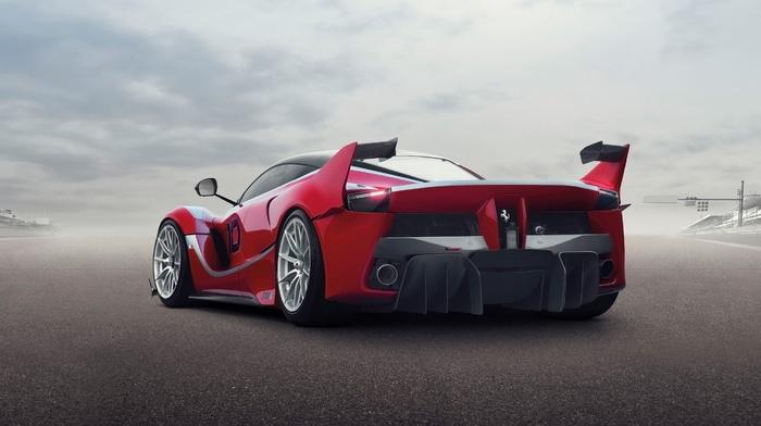 Ferrari, red cars, car, Ferrari FXXK