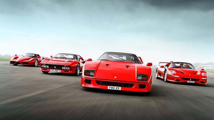 Ferrari F40, Ferrari F50, Ferrari, Ferrari Enzo, car, red cars, ferrari 288 gto