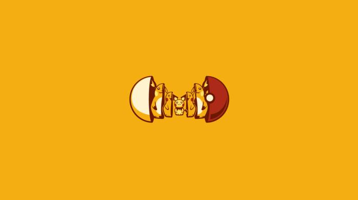 Raichu, Pokemon, Matryoshka dolls, Pikachu, pok balls, minimalism, Pichu