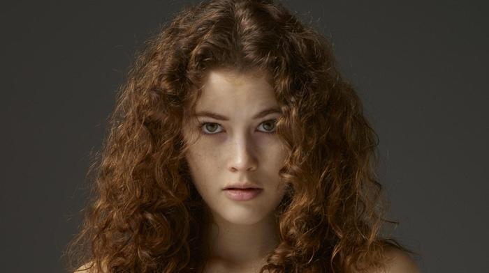 Heidi, girl, freckles, blonde, Vanessa A, heidi romanova, Hegre, art, curly hair