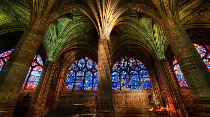 window, painting, arch, religion, Gothic, architecture, columns, indoors, colorful, building, pillar, mosaic, cathedral, candles, interiors