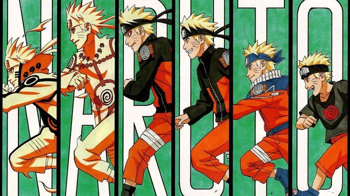 evolution, Uzumaki Naruto, panels, running, manga, Naruto Shippuuden, anime