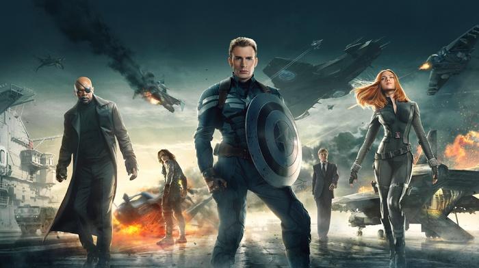 Black Widow, captain america the winter soldier, Captain America, chris evans