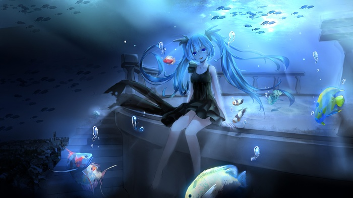 Hatsune Miku, Vocaloid, anime girls