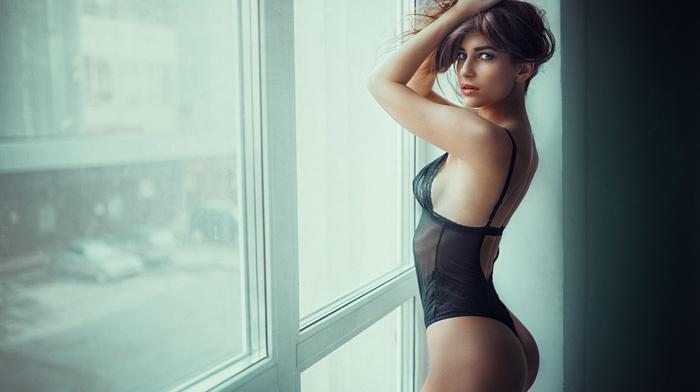 auburn hair, model, ass, Georgiy Chernyadyev, girl, lingerie