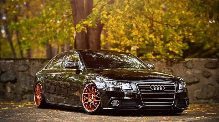 stance, Audi A4, car, Audi