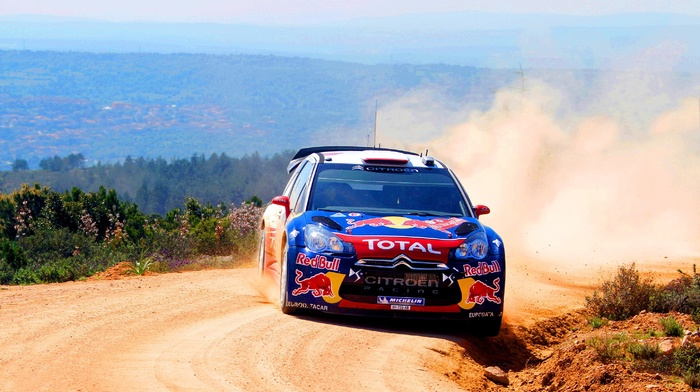car, rally cars, red bull, Citroen DS3, Rally, Citron