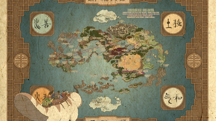 Avatar The Last Airbender, map - wallpaper #137391 ...
