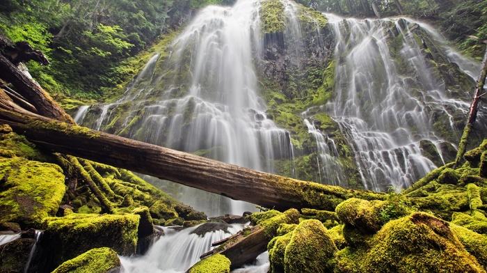 waterfall, nature, long exposure
