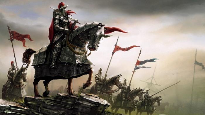 fantasy art, knight, medieval, knights