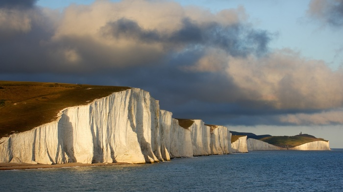 coast, Seven Sisters, England, cliff, sea, landscape, nature