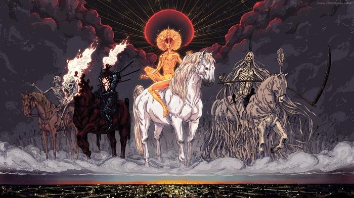 death, war, Four Horsemen of the Apocalypse, famine
