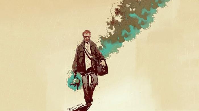 artwork, Walter White, Heisenberg, Breaking Bad, smoke