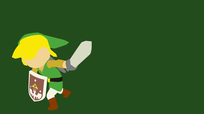 Minimalism Link The Legend Of Zelda Video Games