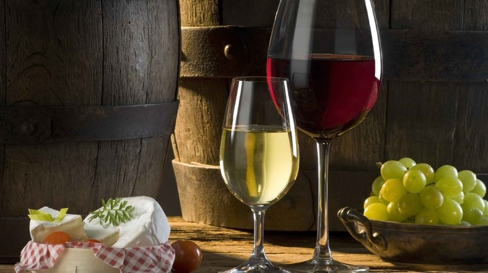 glass, cheese, grapes, food, wine
