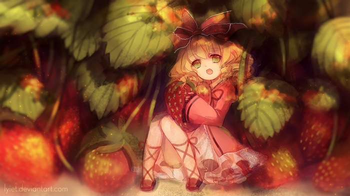 anime girls, Hina Ichigo, Rozen Maiden, anime