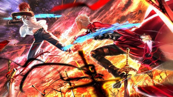 fate series, anime, FateStay Night, Shirou Emiya, Archer FateStay Night, Swordsouls