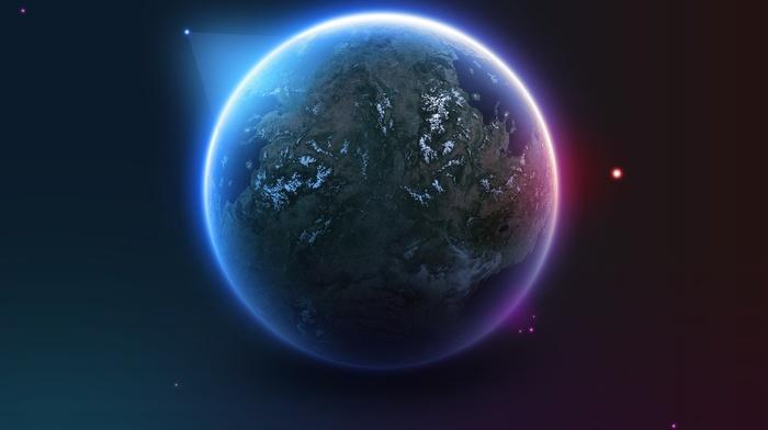 space art, stars, digital art, artwork, satellite, Earth, planet