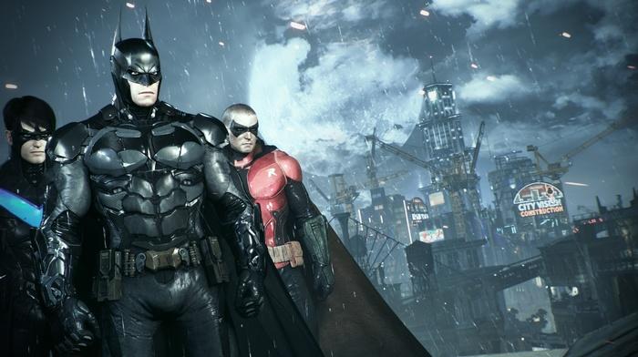 Batman, Gotham City, video games, robin character, Batman Arkham Knight, nightwing